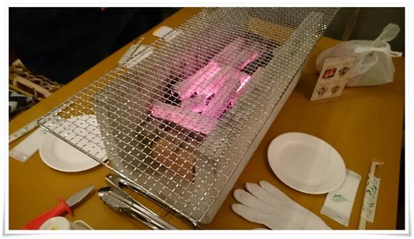炭&網をセット@炭火焼 金のかき小屋