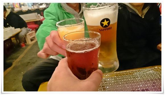 乾杯!@炭火焼 金のかき小屋