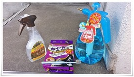 洗浄(脱脂)で使った部材の数々