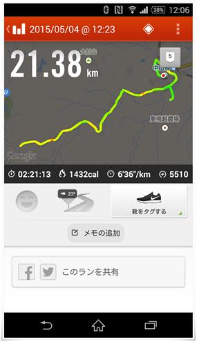 走行距離@山香エビネマラソン大会
