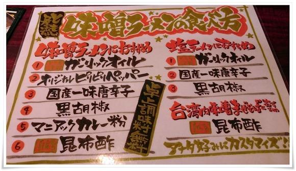 味噌ラーメンの食べ方@二代目とも屋