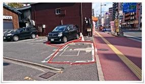 駐車場スペース@とんかつかつ屋