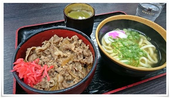 牛丼並ミニうどん付@資さんうどん中央町店