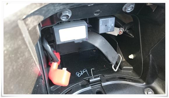 バッテリー取り外し完了@PCX125