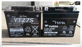 PCX125(EBJ-JF28)バッテリー交換~YTZ7S@純正品からTTZ7SL@互換品に交換しました!