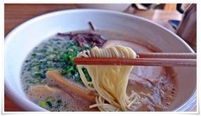 麺は細麺タイプ@温(あたか)