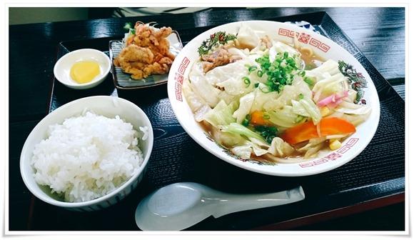 チャンポン定食@お食事処 遊
